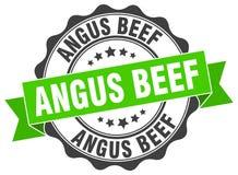 Sello de la carne de vaca de Angus ilustración del vector