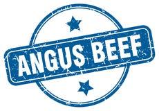 Sello de la carne de vaca de Angus stock de ilustración
