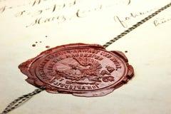 Sello 02 de la cera Imagen de archivo libre de regalías