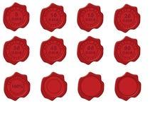 Sello de la cera con el sello del reembolso del dinero Foto de archivo