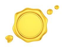 sello de la cera del oro Fotografía de archivo