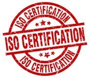 Sello de la certificación de la ISO ilustración del vector