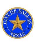 Sello de la ciudad de los E.E.U.U. de Dallas, Tejas stock de ilustración