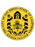 Sello de la ciudad de los E.E.U.U. de San Diego, California stock de ilustración