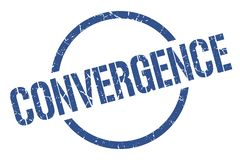 Sello de la convergencia ilustración del vector