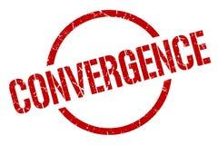 Sello de la convergencia stock de ilustración