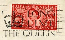 Sello de la coronación del ` s de la reina y matasellos largos del ` de Live The Queen del ` fotos de archivo libres de regalías