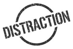 Sello de la distracción stock de ilustración