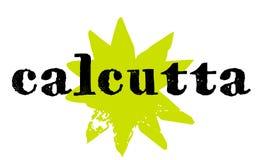 Sello de la etiqueta engomada de Calcutta stock de ilustración