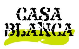 Sello de la etiqueta engomada de Casablanca Imagen de archivo libre de regalías