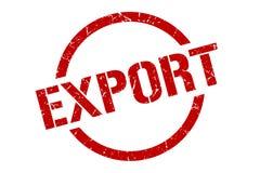 Sello de la exportación stock de ilustración
