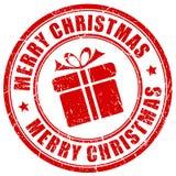 Sello de la Feliz Navidad Imágenes de archivo libres de regalías