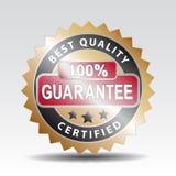 Sello de la garantía de calidad Imagen de archivo