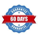 sello de la garantía de 60 días - garantía ilustración del vector