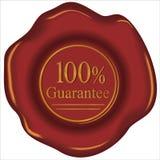 sello de la garantía del 100% stock de ilustración