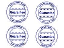 Sello de la garantía fijado (vector) Foto de archivo libre de regalías