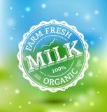 Sello de la leche Fotografía de archivo