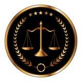 Sello de la ley o de la capa Fotos de archivo