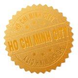 Sello de la medalla de HO CHI MINH CITY del oro ilustración del vector