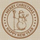 Sello de la Navidad Foto de archivo