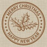 Sello de la Navidad Imagen de archivo libre de regalías