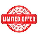 Sello de la oferta limitada Imagen de archivo