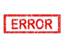 Sello de la oficina de Grunge - ERROR Imagen de archivo