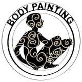 Sello de la pintura del cuerpo Imagen de archivo libre de regalías