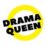 Sello de la reina del drama en blanco ilustración del vector
