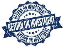 sello de la rentabilidad de la inversión sello ilustración del vector