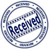 Sello de la tinta RECIBIDO Imagen de archivo libre de regalías