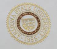 Sello de la universidad de estado de Arizona imágenes de archivo libres de regalías
