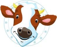 Sello de la vaca - ejemplo del vector Fotografía de archivo