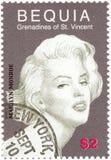 Sello de la vendimia con Monroe Imagen de archivo