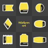 Sello de las etiquetas engomadas de la colección Foto de archivo libre de regalías