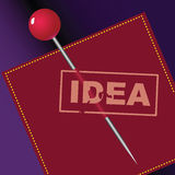 Sello de las ideas Foto de archivo