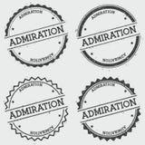 Sello de las insignias de la ADMIRACIÓN aislado en blanco ilustración del vector