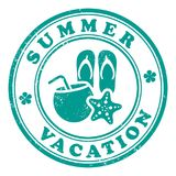 Sello de las vacaciones de verano Foto de archivo