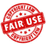 Sello de los derechos reservados del uso justo Fotos de archivo libres de regalías