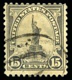 Sello de los E.E.U.U. del vintage de la estatua de la libertad Foto de archivo