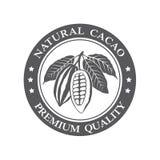 Sello de los granos de cacao ilustración del vector