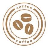 Sello de los granos de café Foto de archivo libre de regalías