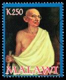 Sello de Mohandas Karamchand Gandhi imagen de archivo