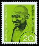 Sello de Mohandas Karamchand Gandhi fotos de archivo