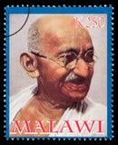 Sello de Mohandas Karamchand Gandhi imágenes de archivo libres de regalías