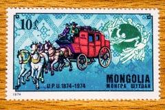 Sello de Mongolia del vintage foto de archivo libre de regalías