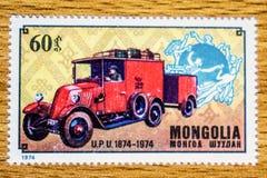 Sello de Mongolia del vintage imagenes de archivo