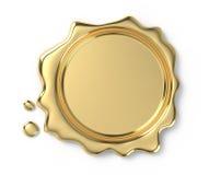 Sello de oro de la cera Fotografía de archivo
