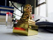 sello de oro del león Imagen de archivo