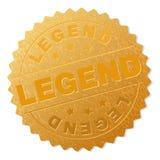 Sello de oro de la insignia de la LEYENDA stock de ilustración